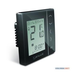 Salus VS10B, комнатный термостат цифровой (черный)