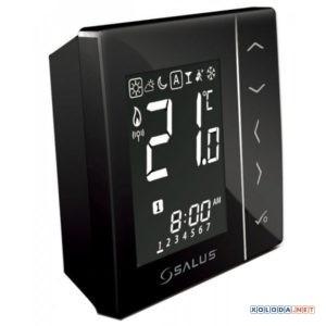 Salus VS20BRF, беспроводной комнатный термостат 4 в 1 (черный)