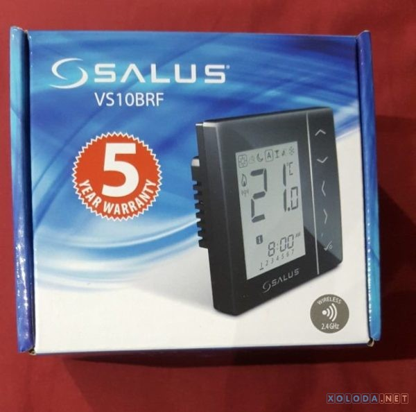 Salus VS10BRF, беспроводной комнатный термостат 4 в 1, 230V (черный)