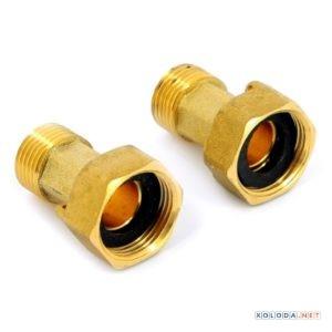 Комплект накидных гаек DN15 ( 2 шт.+прокладки)