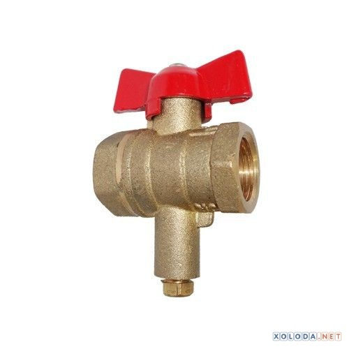 Кран шаровый DN15 для термодатчика