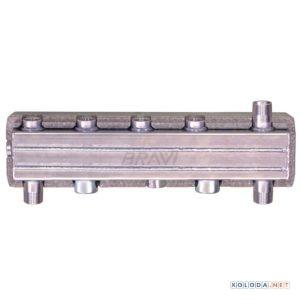 Распределительный коллектор Bravi HVW90 на 2 контура с гидравлическим разделителем
